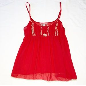 Victoria's Secret Red Sheer Babydoll Size XL